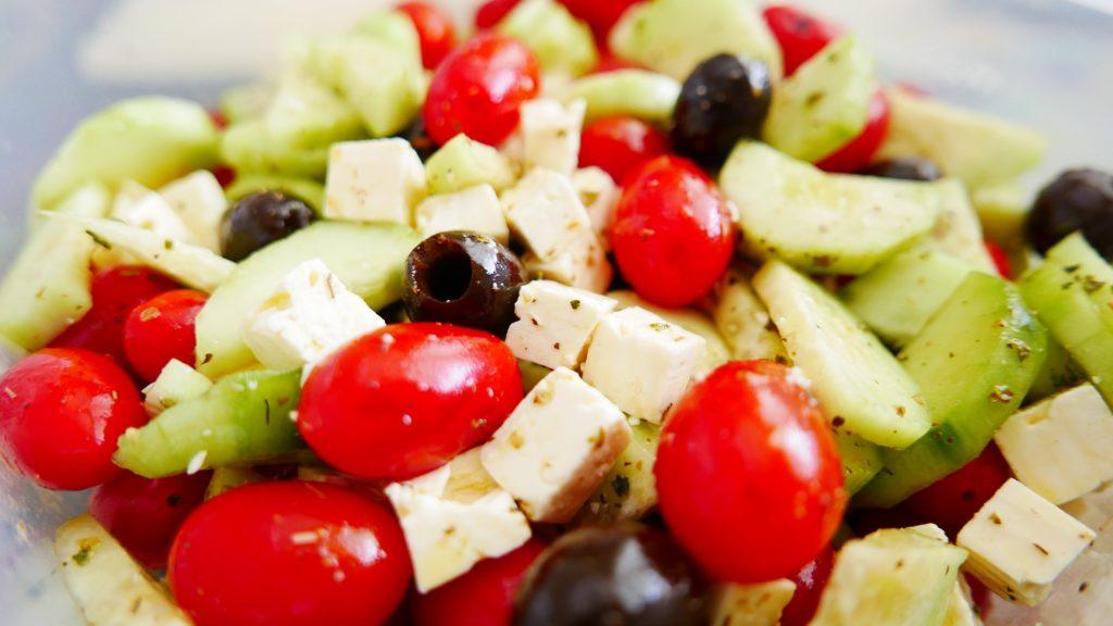 grčka, feta sir, masline, maslinovo ulje, paradajiz, krastavac