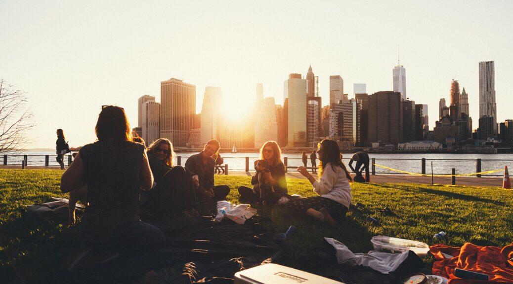 odmor, vikend, sunčan dan, korpa, piće, hrana, sendviči, prijatelji